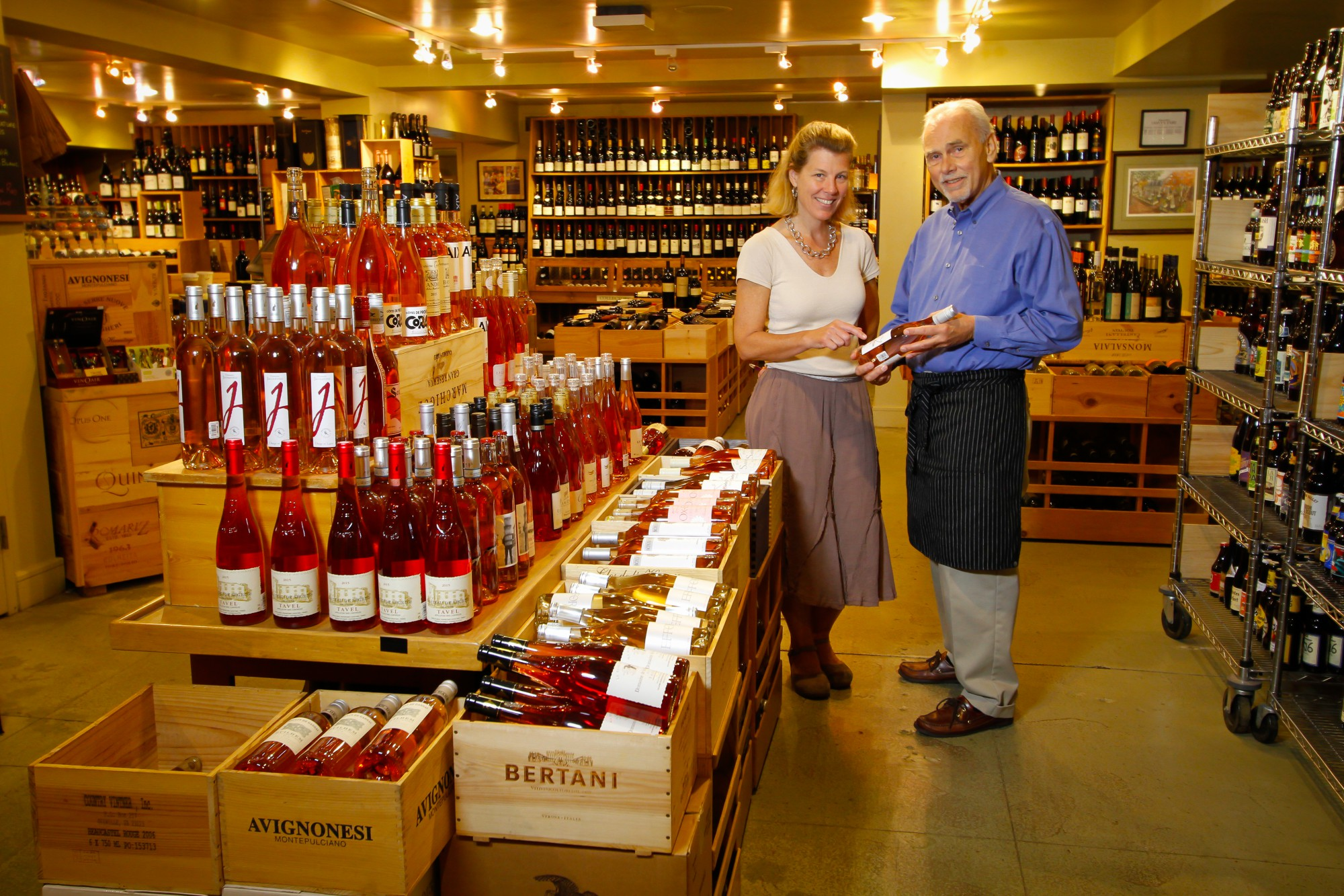 The Cheese Shop wine cellar